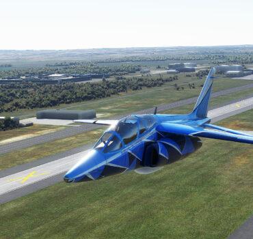 Alpha-jet no hangar